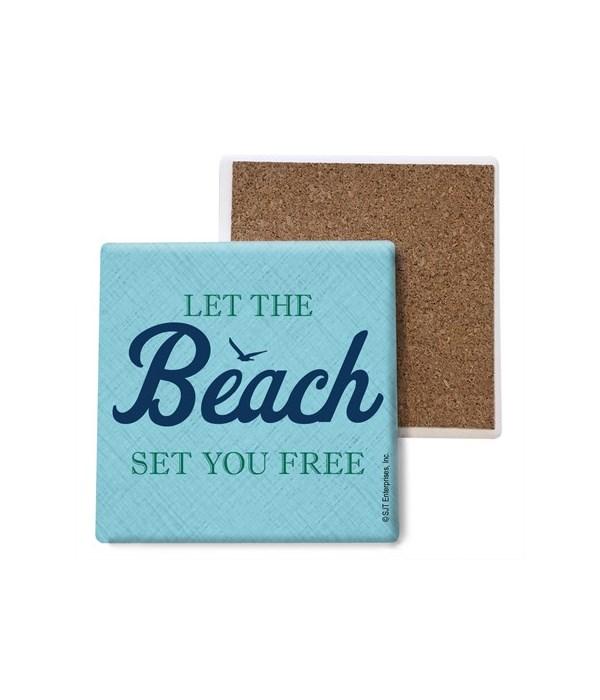 Let the beach set you free coaster bulk