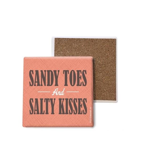 Sandy toes and salty kisses coaster bulk