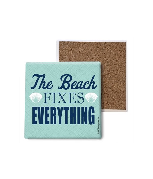 the beach fixes everything - two white s