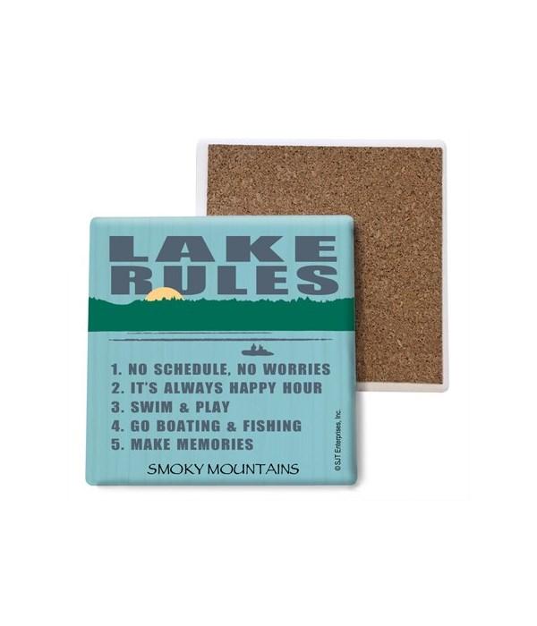 Lake rules (lake image) coaster bulk