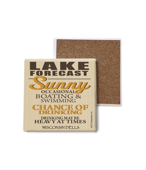 Lake forecast (sun image) coaster bulk