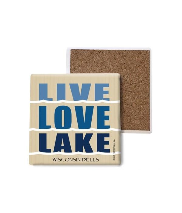 Live. Love. Lake.  coaster bulk