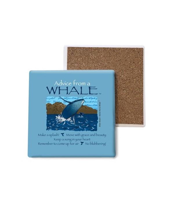 Advice from a Whale coaster bulk