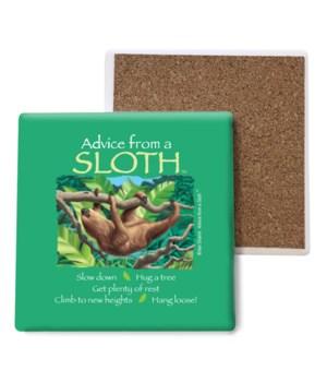 Advice from a Sloth Bulk Coaster