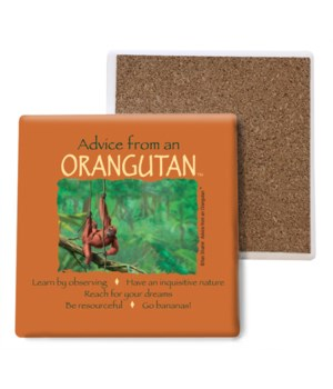 Advice from an Orangutan Bulk Coaster