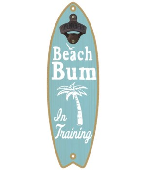 Beach bum in training (palm tree image)