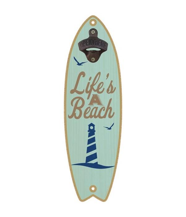 Life's a beach (lighthouse image) Surfbo