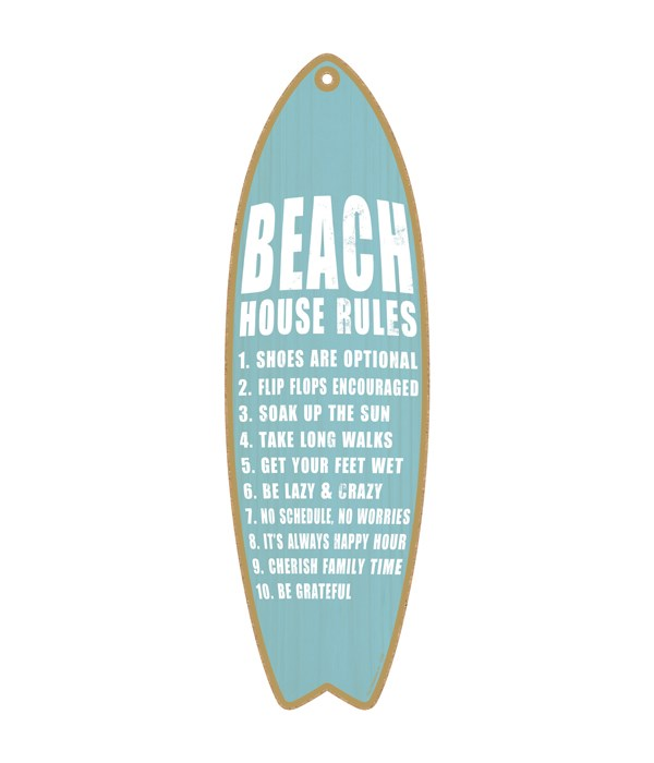 Beach house rules (Blue and white) surfb