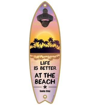 Life is better at the beach - purple and