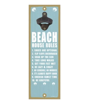 Beach house rules (Blue and white)