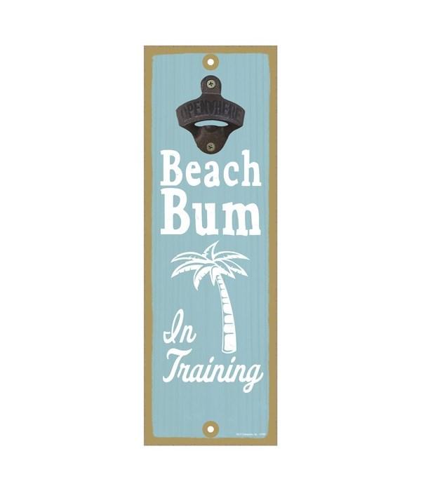 Beach bum in training (palm tree image)