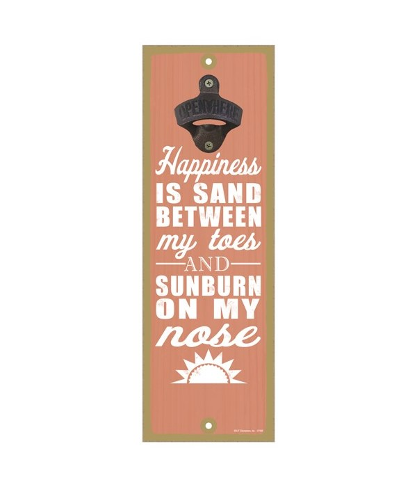 Happiness is.. sand between my toes and
