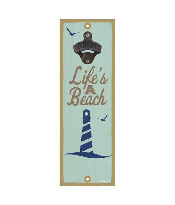 Life's a beach (lighthouse image)