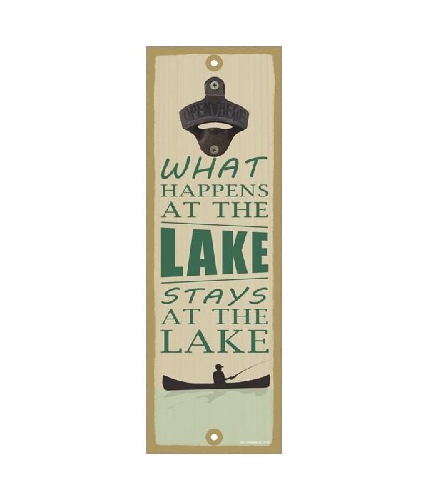 What happens at the lake, stays at the lake (boat & fishing image)