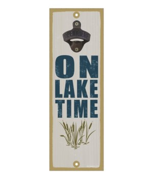 On lake time (cat tails in water image)