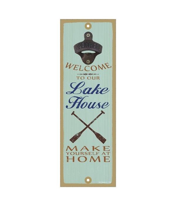 Welcome to our lake house.  Make yourself at home (oar image)