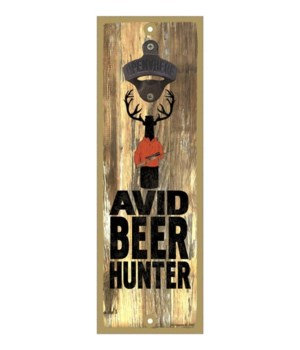 Avid beer hunter - beer bottle with antl