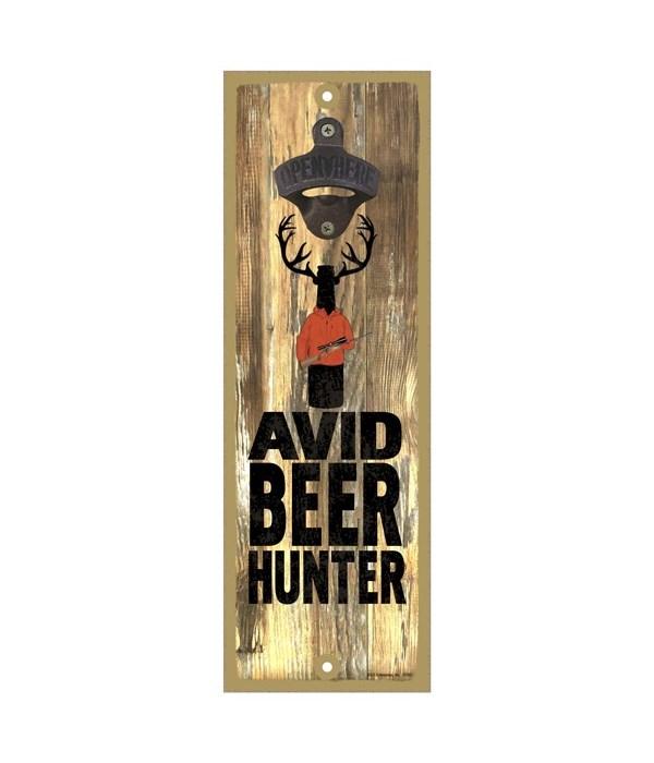 Avid beer hunter - beer bottle with antl