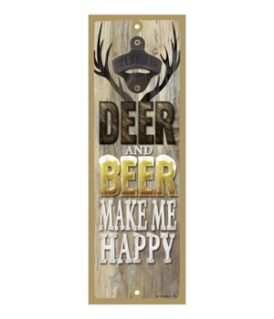 Deer and beer make me happy - Antlers wi
