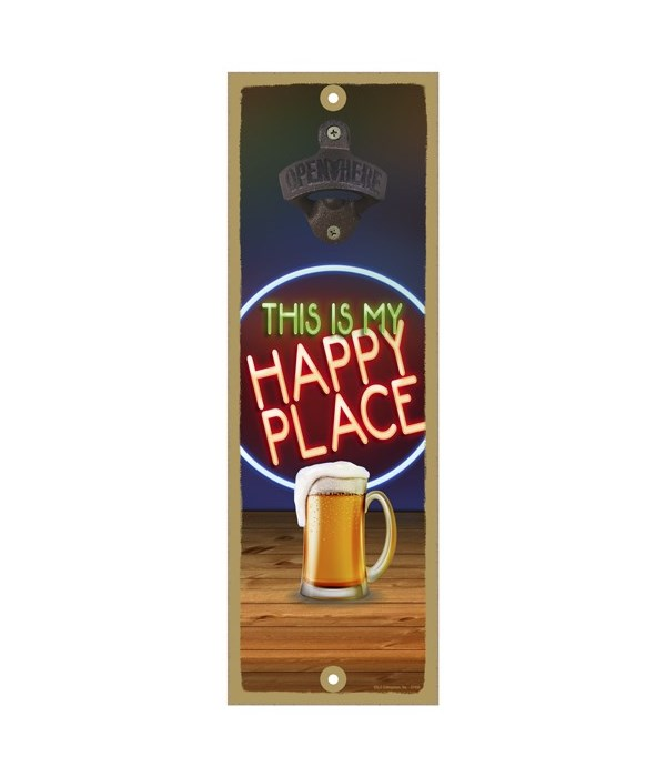 This is my happy place - Beer mug in fro