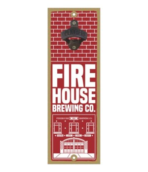 Firehouse Brewing Co. - red & white bric