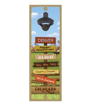 Rockies 5x15 Bottle opener sign