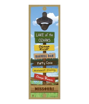 Lake 5x15 Bottle opener sign