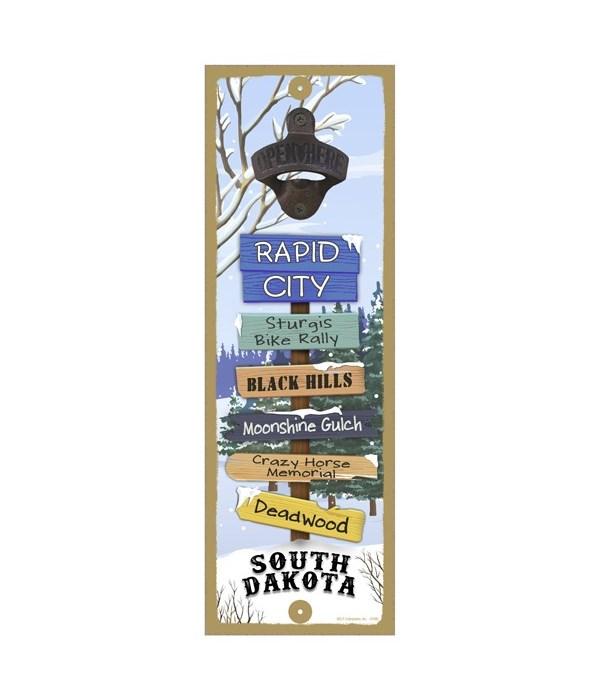 Snow Forest 5x15 Bottle opener sign