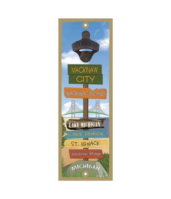 Mackinaw City Destination Sign - Opener