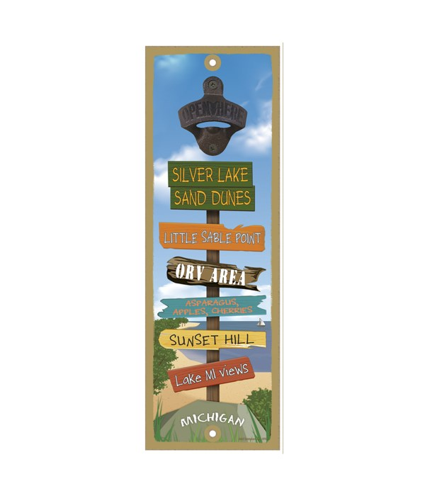 Silver Lake Sand Dunes-Destination 5x15 Bottle Opener