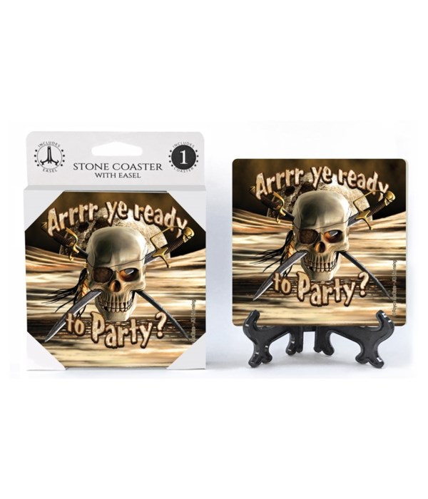 Arrrr ye ready to Party? (skull with swo