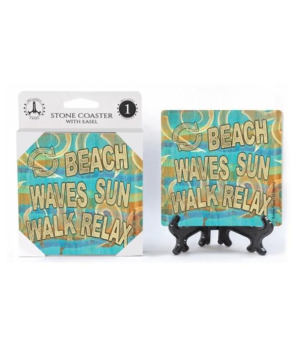 Beach waves sun walk relax - JQ coaster