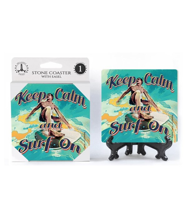 Keep calm and surf on (surfer) - JQ coas