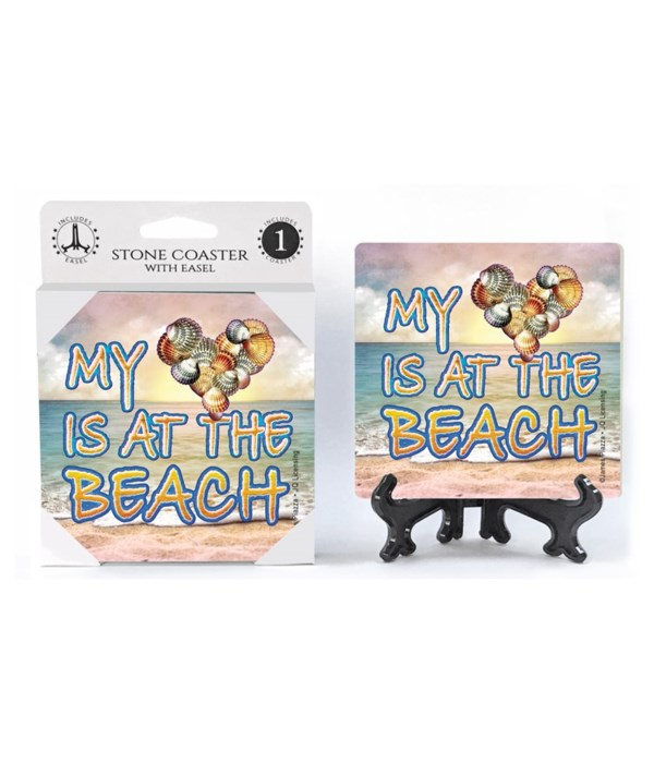 My heart is at the beach (shells heart)