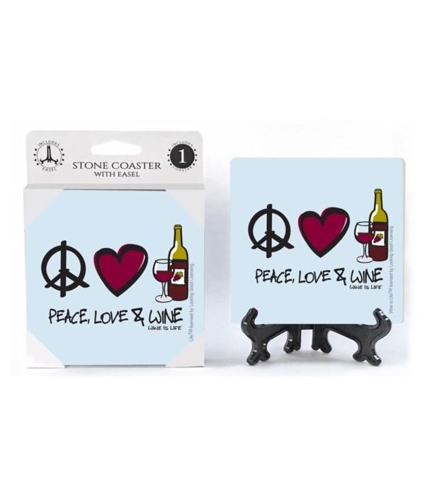 Peace, love, and wine - peace sign, hear