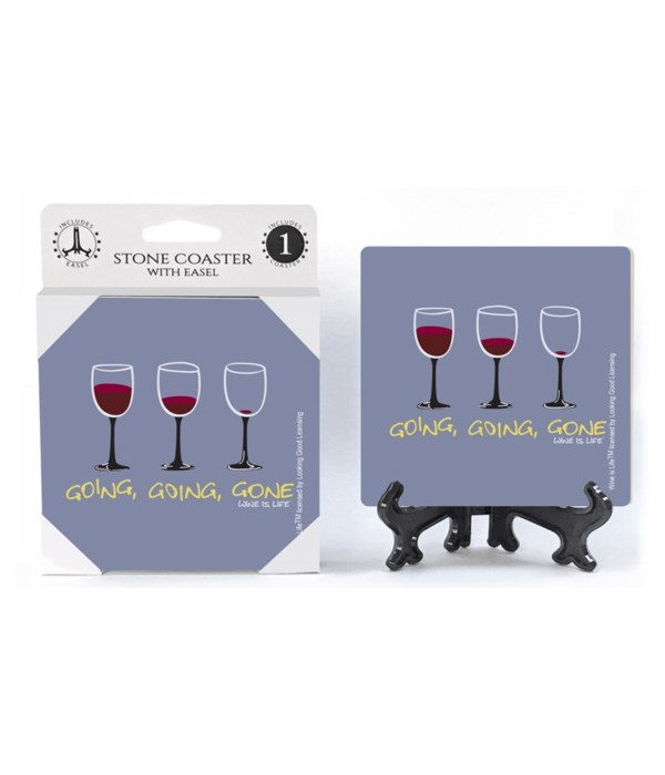Going, going, gone - three red wine glas