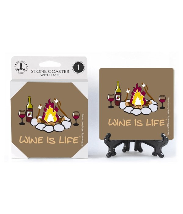 Wine is Life - Camp - campfire with mars