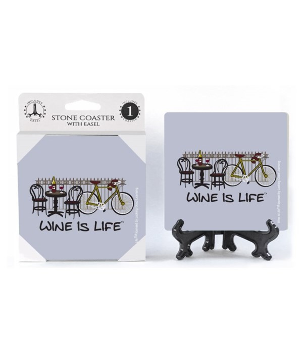 Wine is Life - Cycling - bicycle with fe