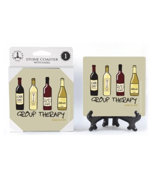 Group therapy - 4 different wine bottle