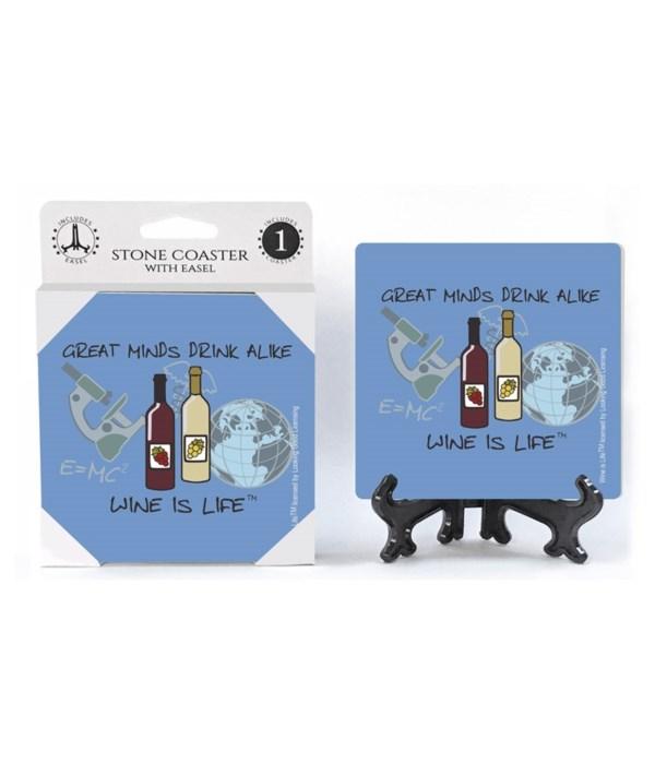 Great minds drink alike - globe, microsc