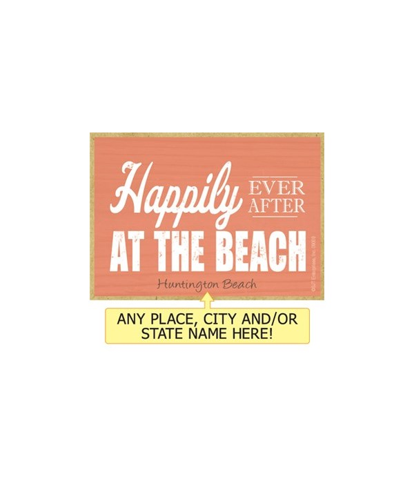 Happily ever after at the beach Magnet