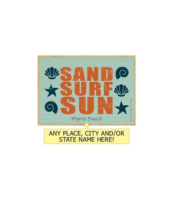 Sand surf sun Magnet