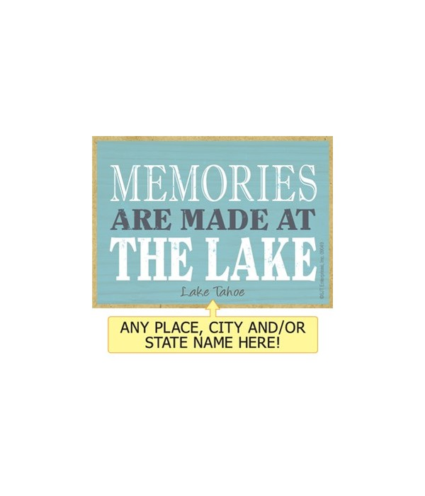 Memories are made at the lake Magnet