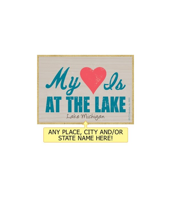 My heart is at the lake Magnet