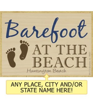 Barefoot at the beach Magnet