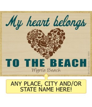 My heart belongs to the beach Magnet