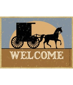 WELCOME (horse and buggy silhouette)