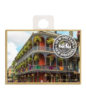 """""""New Orleans"""" white mail stamp logo on i"""