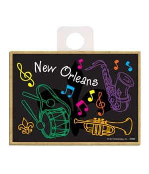 """""""New Orleans""""  - Black bkgd with saxopho"""