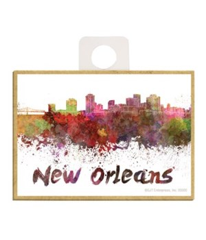 """""""New Orleans"""" splatter painted city silh"""